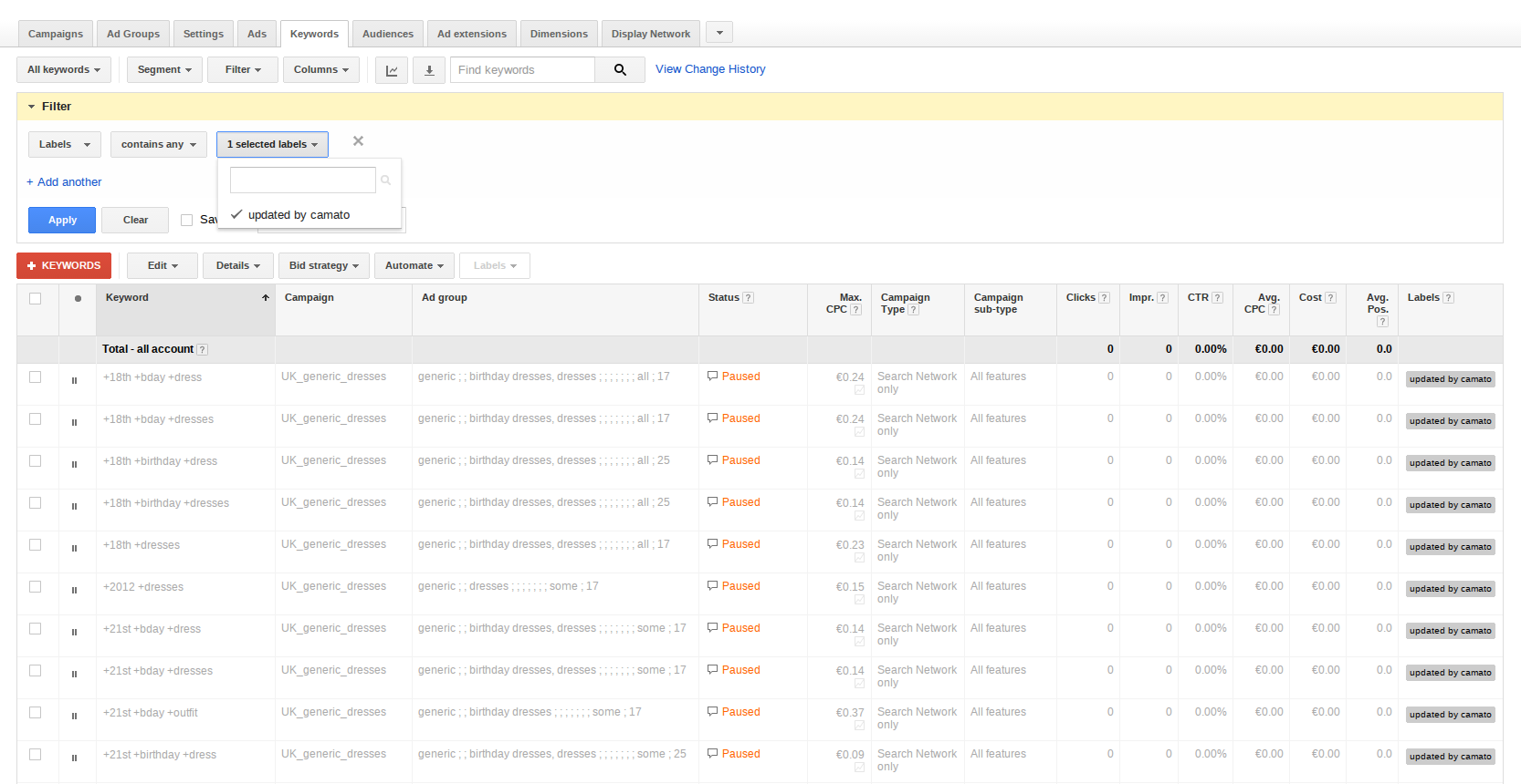 Adwords_Labels_Filtering
